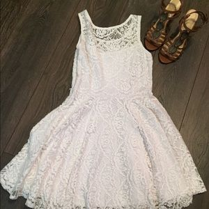 Delia's white dress!